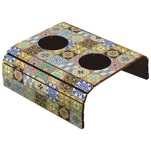 Porta-Copos-Esteira-Americana-para-Sofa-em-Papel-e-MDF-6mm-ASLE-002-42x295cm-com-2-Suporte-Plastico-para-Copos-Azulejo