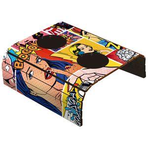Porta-Copos-Esteira-Americana-para-Sofa-em-Papel-e-MDF-6mm-ASLE-004-42x295cm-com-2-Suporte-Plastico-para-Copos-Pop-Art