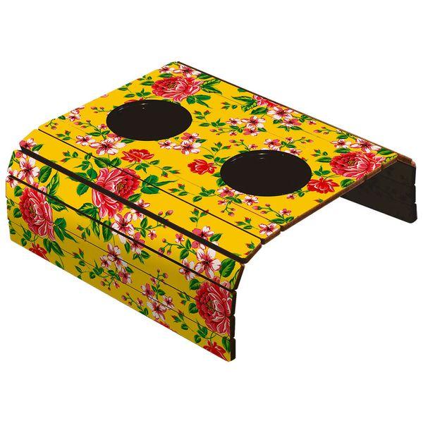 Porta-Copos-Esteira-Americana-para-Sofa-em-Papel-e-MDF-6mm-ASLE-006-42x295cm-com-2-Suporte-Plastico-para-Copos-Chita