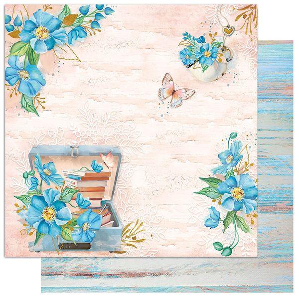 Papel-Scrapbook-Litoarte-305x305-SD1-088-Padrao-Flores-Azuis