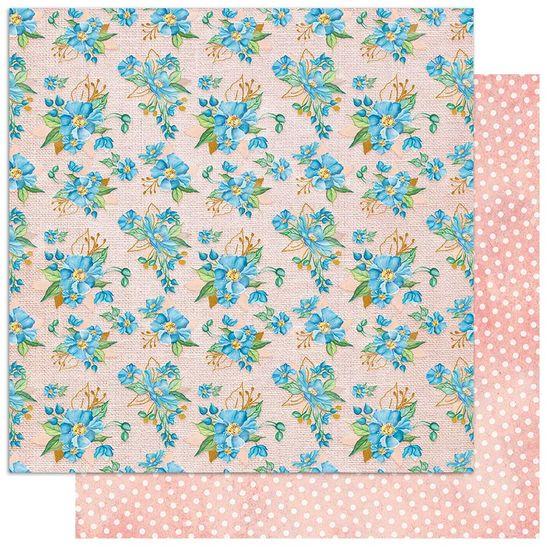 Papel-Scrapbook-Litoarte-305x305-SD1-089-Padrao-Flores-Azuis