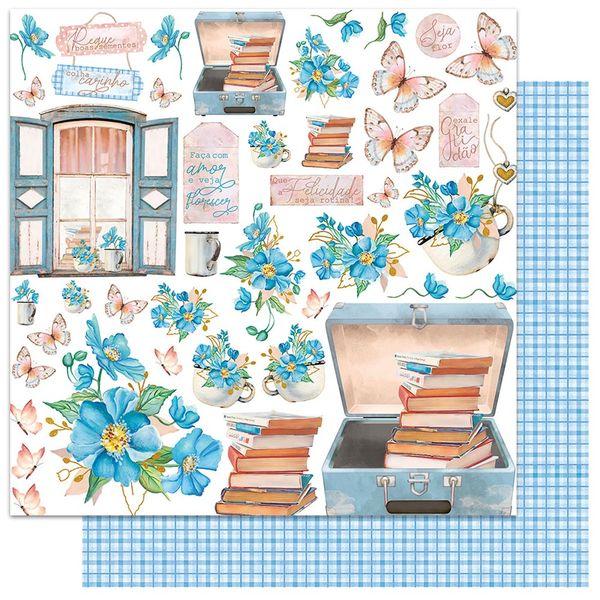 Papel-Scrapbook-Litoarte-305x305-SD1-090-Padrao-Flores-Azuis