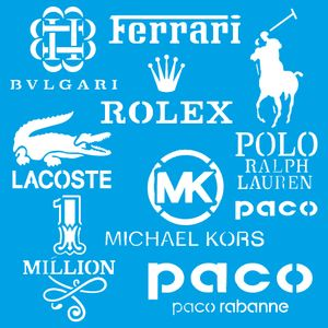 Stencil-Litoarte-20x20-STXX-176-Marcas-Grifes-Ferrari-Rolex-Polo-Lacoste
