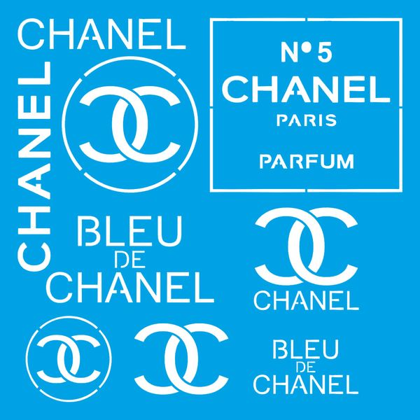 Stencil-Litoarte-20x20-STXX-177-Marcas-Grifes-Chanel