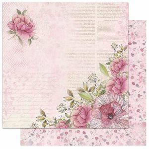 Papel-Scrapbook-Litoarte-305x305-SD-1061-Flores-Escrita-Aramado