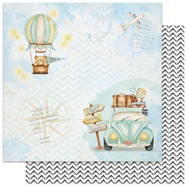 Papel-Scrapbook-Litoarte-305x305-SD-1136-Viagem-Fusca-Balao