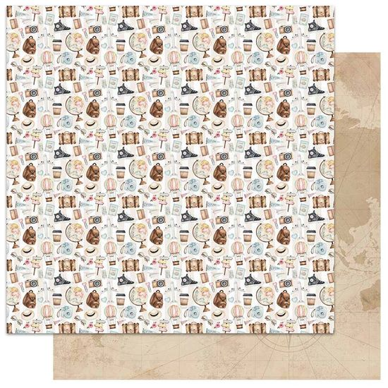 Papel-Scrapbook-Litoarte-305x305-SD-1138-Itens-de-Viagem
