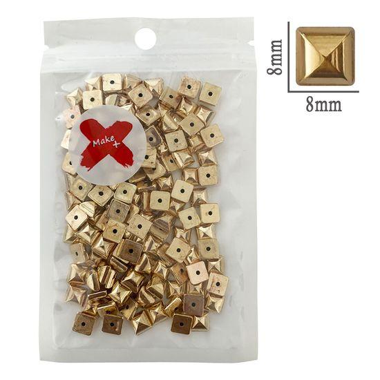 Chaton-Quadrado-ABS-Pedra-Decorativa-Make-Mais-17g-8mm-Dourado