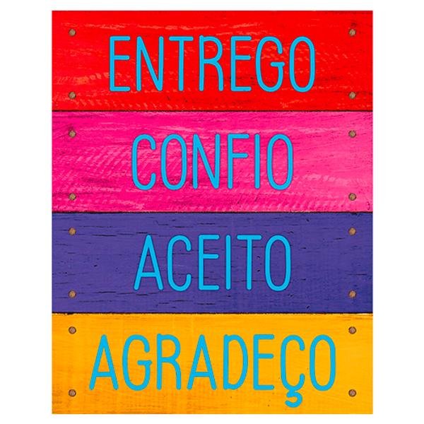 Placa-Decorativa-Litoarte-DHPM-488-24x19cm-Entrego-Confio-Aceito-Agradeco
