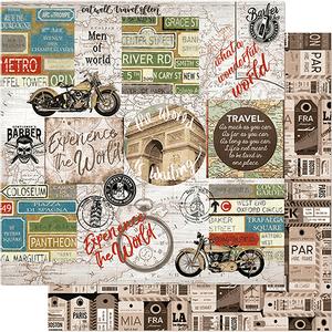 Papel-Scrapbook-Litoarte-305x305-SD-1146-Masculino-Moto-Viagem