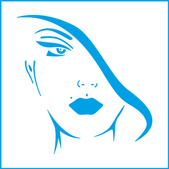 Stencil-Litoarte-14x14-STA-139-Dama-III
