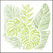 Stencil-Litoarte-20x20-STXX-183-Folhas-Tropicais
