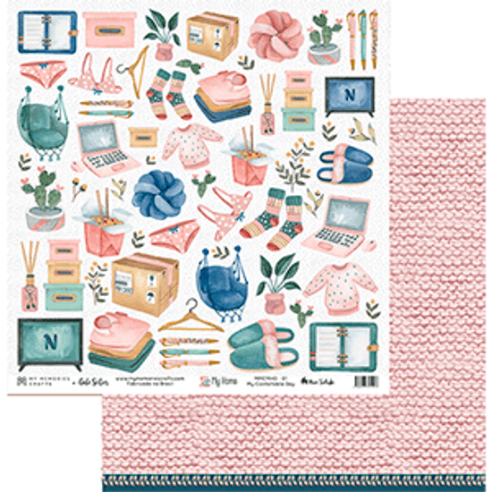 Papel-Scrapbook-My-Memories-Crafts-305x305-MMCMHO-001-My-Confortable-Day