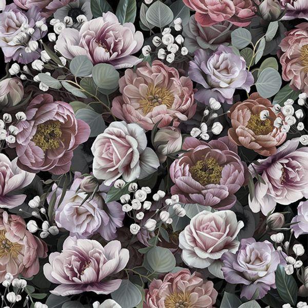 Pacote-Guardanapo-Decoupage-Ambiente-Luxury-VINTAGE-FLOWERS-BLACK-13313900-20-unidades-Flores-Vintage