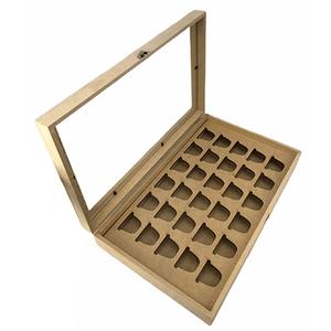 Caixa-com-Vidro-Porta-Capsulas-de-Cafe-Nespresso-para-30-Unidades-em-MDF-35x21x6cm---Palacio-da-Arte