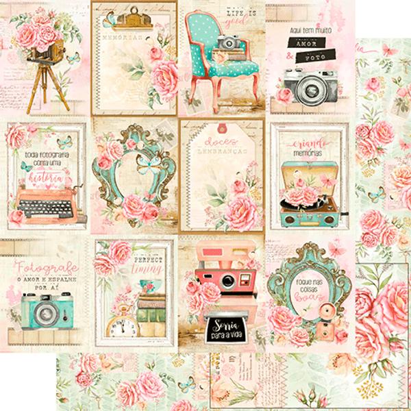 Papel-Scrapbook-Litoarte-SD-1154-Bons-Momentos-Cards-Floral-305x305cm