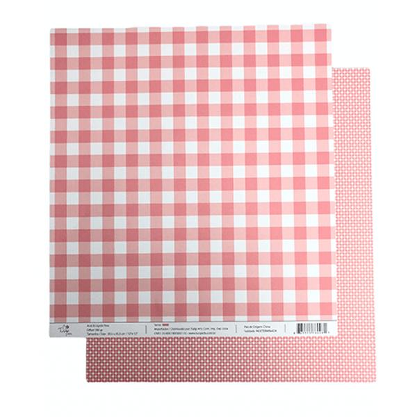 Papel-Scrapbook-Xadrez-e-Losango-305x305cm-PBXL005-Rosa-Tulip-Arts