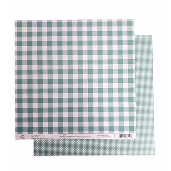 Papel-Scrapbook-Xadrez-e-Losango-305x305cm-PBXL004-Verde-Tulip-Arts