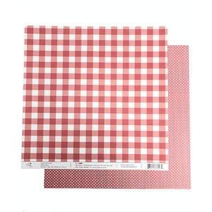 Papel-Scrapbook-Xadrez-e-Losango-305x305cm-PBXL003-Vermelho-Tulip-Arts