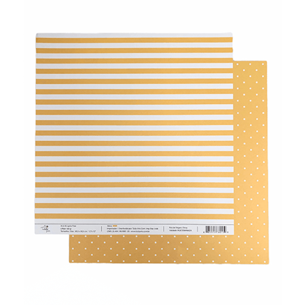 Papel-Scrapbook-Poa-e-Listras-305x305cm-PBLPO001-Amarelo-Tulip-Arts