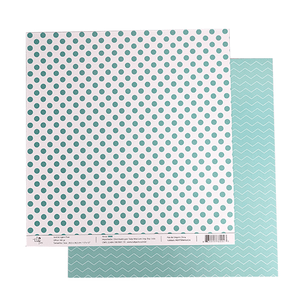Papel-Scrapbook-Poa-e-Chevron-305x305cm-PBCPO004-Verde-Tulip-Arts