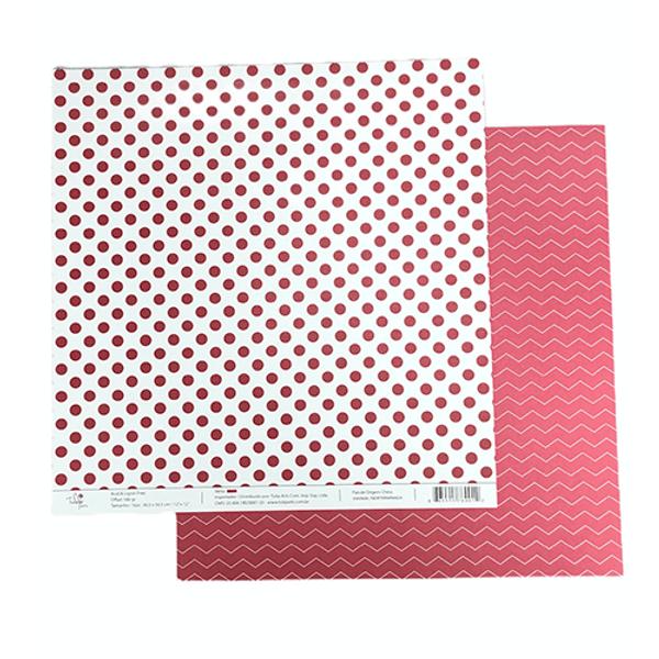 Papel-Scrapbook-Poa-e-Chevron-305x305cm-PBCPO003-Vermelho-Tulip-Arts