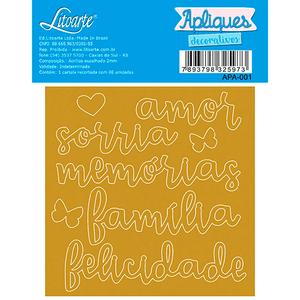 Apliques-Decorativos-em-Acrilico-Espelhado-Litoarte-APA-001-Amor-Sorria-Memorias-Familia-Felicidade-9x9cm