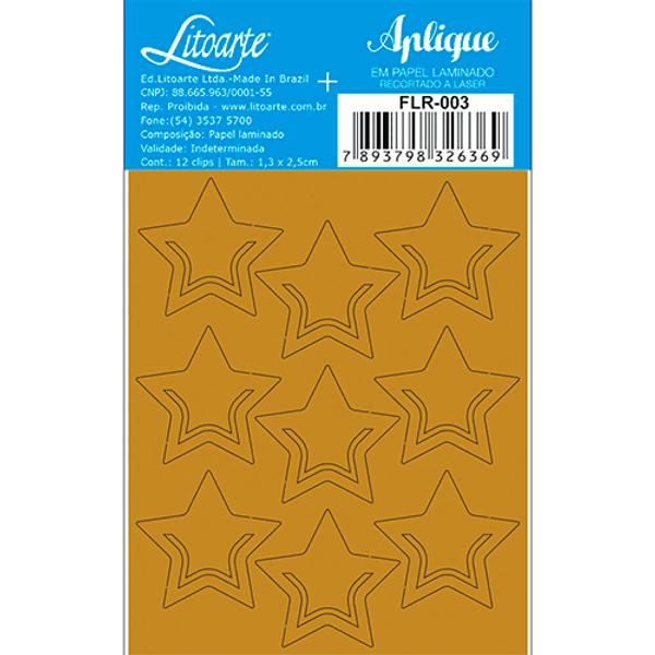 Aplique-em-Papel-Laminado-Litoarte-Dourado-FLR-003-Clips-Estrelas-7x85cm