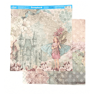 Papel-Scrapbook-Litoarte-SD-1053-Fada-e-Castelo-305x305cm