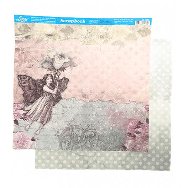 Papel-Scrapbook-Litoarte-SD-1050-Fada-e-Flores-305x305cm