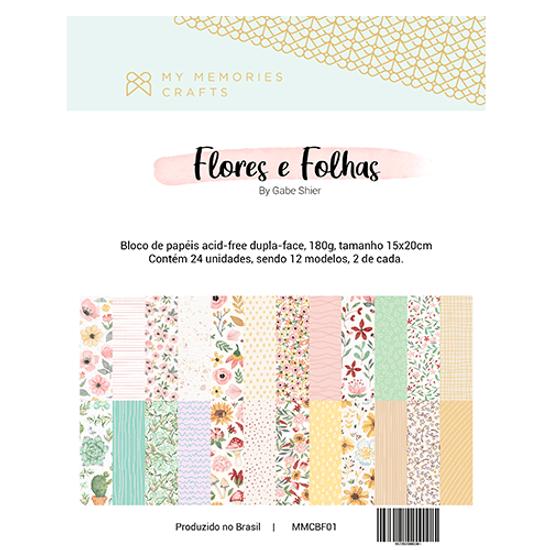 Bloco-de-Flores-e-Folhas-com-24-papeis-My-Memories-Crafts-15x20cm-MMCBF-001