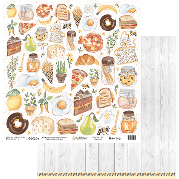 Papel-Scrapbook-My-Memories-Crafts-305x315-MMCMK-002-My-Kitchen-My-Food