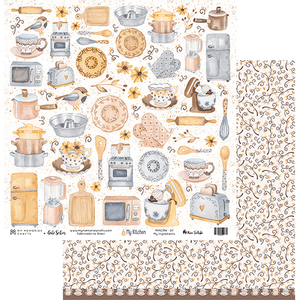Papel-Scrapbook-My-Memories-Crafts-305x315-MMCMK-001-My-Kitchen-My-Ingredients