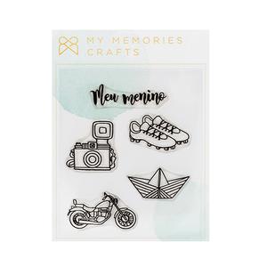 Carimbo-de-Silicone-My-Memories-Crafts-10x10cm-MMCMBO-007-My-Boys-Meu-Menino