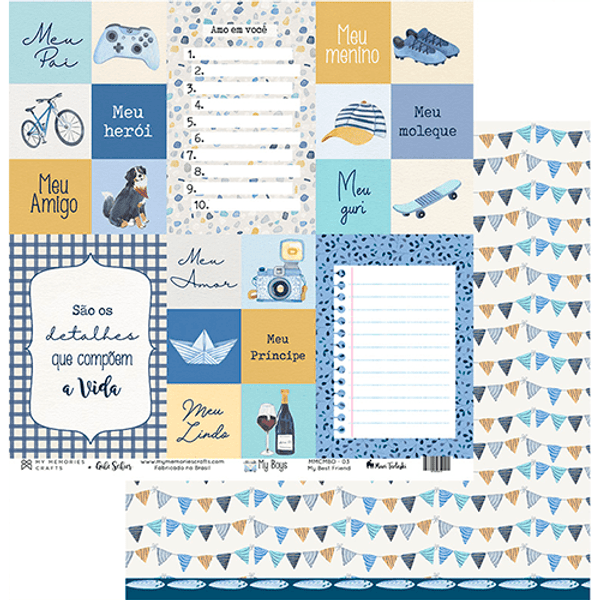 Papel-Scrapbook-My-Memories-Crafts-305x315-MMCMBO-003-My-Boys-My-Best-Friends