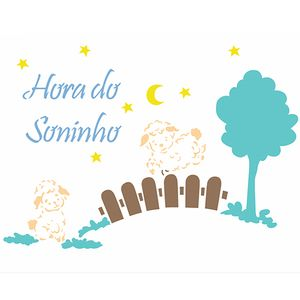 Stencil-OPA-Simples-20x25-OPA2977-Infantil-Hora-do-Soninho