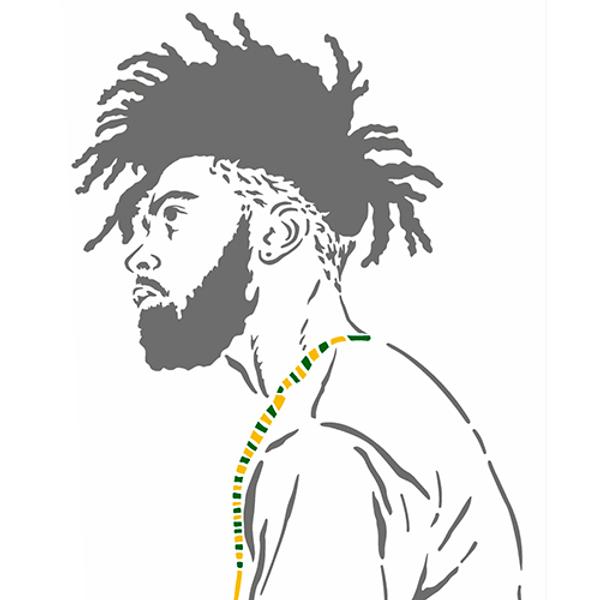 Stencil-OPA-Simples-20x25-OPA2954-Afro-Homem