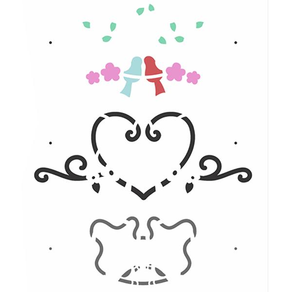 Stencil-OPA-Simples-20x25-OPA2985-Passaros-Love