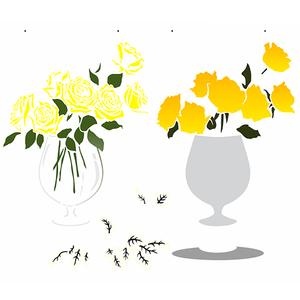 Stencil-OPA-Simples-32x42-OPA2991-Vaso-Flores-Rosas