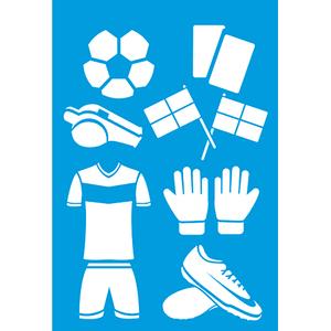 Stencil-Litocart-30x20-LSS-077-Futebol-Acessorios