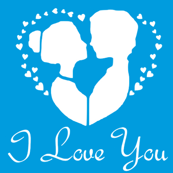 Stencil-Litocart-14x14-LSP-111-Cinderela-I-Love-You