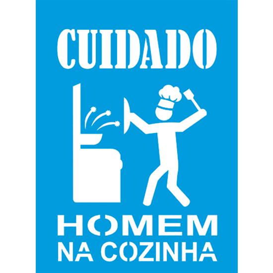 Stencil-Litocart-20x15-LSM-229-Frase-Cuidado-Homem-na-cozinha