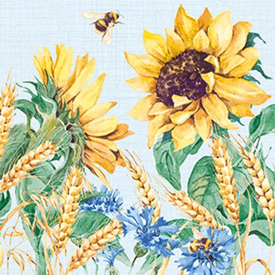 Guardanapo-Decoupage-Ambiente-Sunflowers-and-Wheath-Blue-13313276-2-unidades