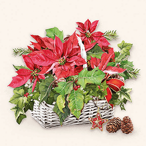 Guardanapo-Decoupage-Ambiente-Natal-Poinsettia-in-Basket-33313395-2-unidades