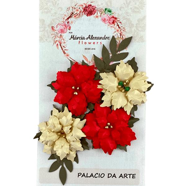 Flores-de-Papel-Artesanal-e-Perfumadas-Natal-Natalie-00028-03-Vermelha-com-Dourado
