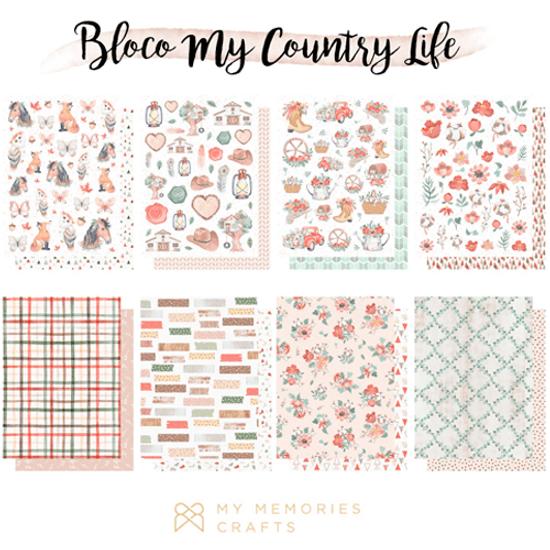 Bloco-de-Papel-Scrapbook-My-Memories-Crafts-15x20cm-MMCMCL-007-My-Country-Life-com-24-unidades