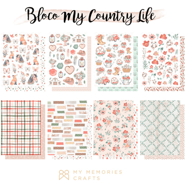 Bloco-de-Papel-Scrapbook-My-Memories-Crafts-15x20cm-MMCMCL-007-My-Country-Life-com-24-unidades