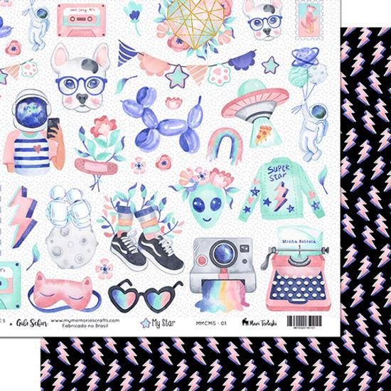 Papel-Scrapbook-My-Memories-Crafts-305x305cm-MMCMS-001-My-Star-Meu-Universo