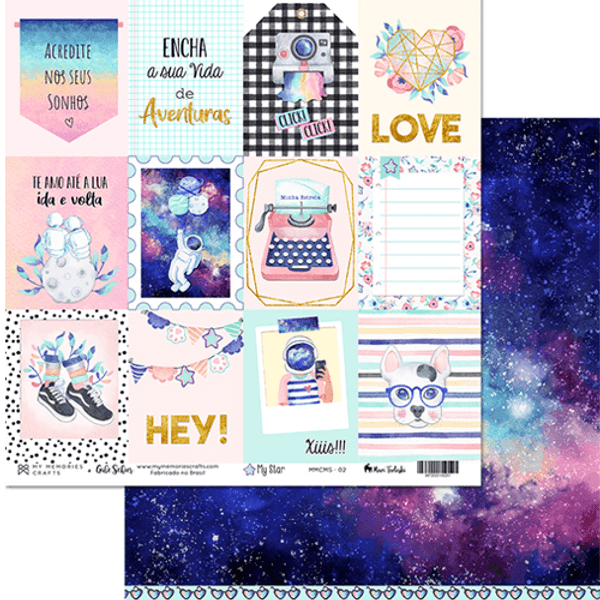 Papel-Scrapbook-My-Memories-Crafts-305x305-MMCMS-002-My-Star-Tags-Meu-Universo