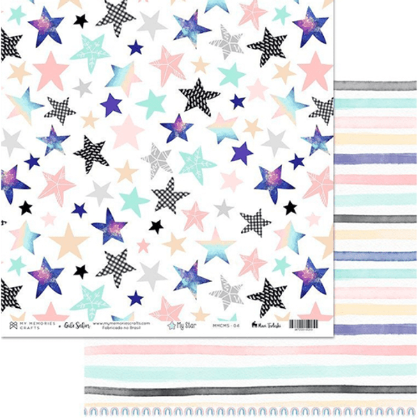 Papel-Scrapbook-My-Memories-Crafts-305x305-MMCMS-004-My-Star-Estrelas